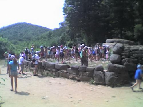 Группа туристов у дольмена