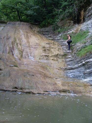 Подъем вдоль водопада