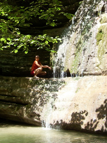 На водопаде реки Жане