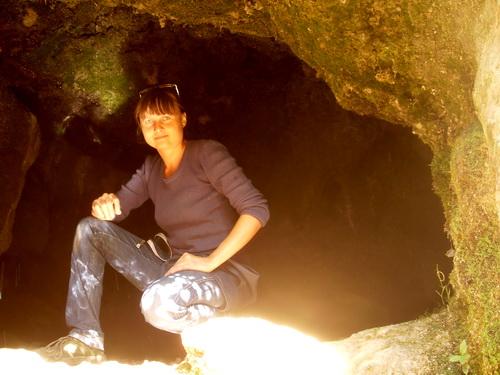 Я в одной из пещер.