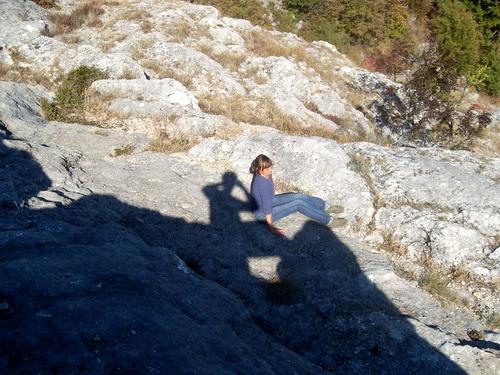 Вы когда-нибудь сидели на коленках у тени?