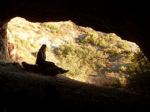 Вид из той же пещеры.