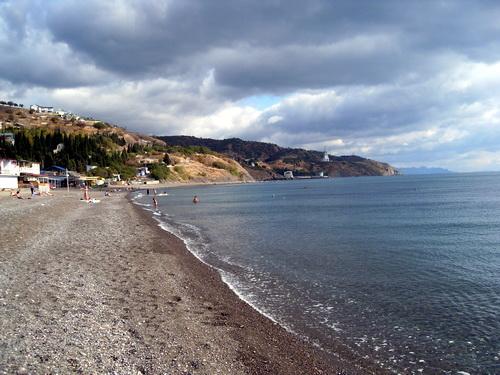 Осенний пляж в Крыму