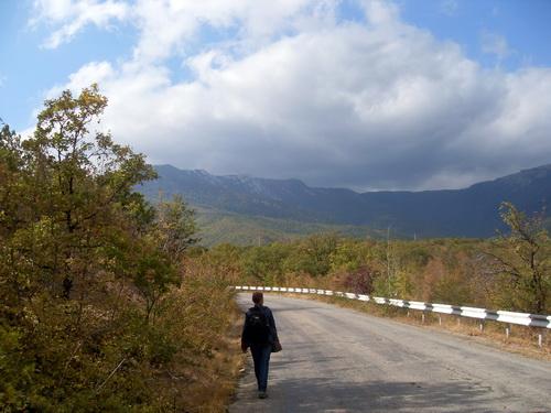 Дорога в село Генеральское
