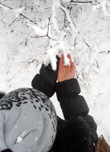 Снег в руках